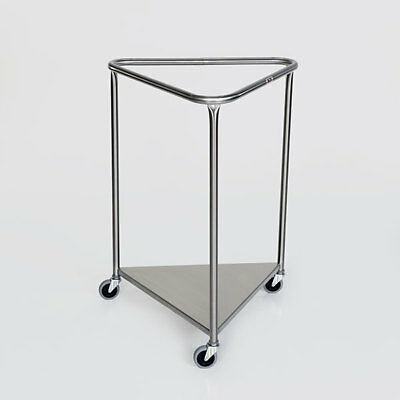 """New MCM-2005 25"""" Triangle Top Stainless Steel Linen Hamper."""