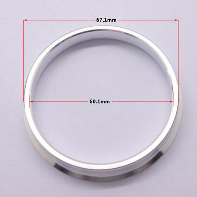 4pcs High Quality Aluminum Alloy Wheel Spacer Hub Centric Rings 67.1OD to 60.1ID