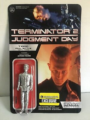 Funko ReAction Terminator 2 T1000 Final Battle Metal Form Action Figure New