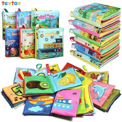 My First Soft Book Nontoxic Fabric Baby Cloth Books Early Education Toys 6 Pack