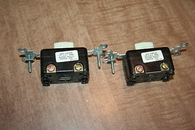 Lot Of 2 Vintage H&H Glo-Switch Light Switches 15A 125V Not Tested See Pix!!