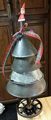 Antique/primitive, Vintage Funnel Christmas Tree Industrial Farmhouse ! Nice !!!
