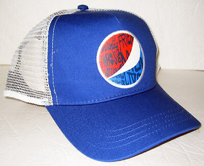 Pepsi TRUCKER HAT Mesh Blue Snapback Baseball Cap *BRAND NEW* Collectible Gear