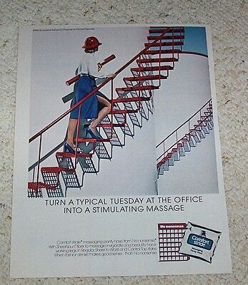 1984 ad page - No Nonsense Comfort Stride Pantyhose lady legs Vintage OLD ADVERT