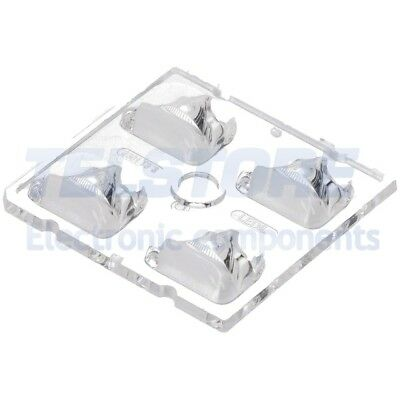 2pcs  Lentille LED carré transparent H 7,1mm