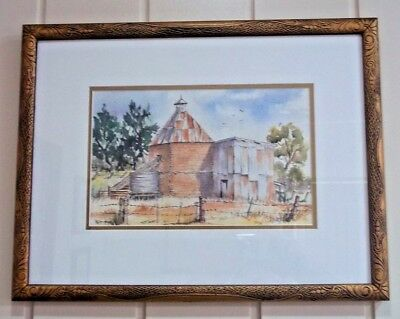 Watercolour , ' Chickory Kilns , Cowes , Phillip Island ' by artist , H Sheahan