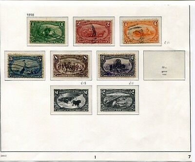 1898 USA.  Trans-Mississippi Exposition, Omaha.  Part set of 6 USED.
