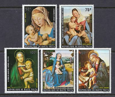 Upper Volta 1973 Christmas Paintings - Virgin with Child - MNH set  - (320)