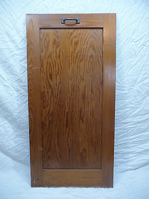 Antique Craftsman Style Cabinet Door - C. 1915 Chestnut Architectural Salvage