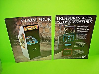 Exidy VENTURE 2-Page 1981 Magazine Ad  For Video Arcade Game Not a Sales Flyer