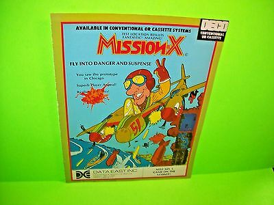 Data East MISSION-X Deco Magazine Ad For Video Arcade Game Not a Sales Flyer