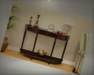 FRENCHI Home Furnishing Console Sofa Table with Drawer, New