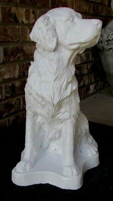 Concrete Golden Retriever Statue/ Memorial / Pet Grave Marker / Sealed In White