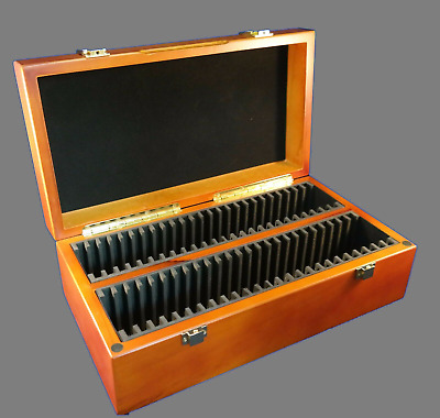 Wood Storage Case Box 50 Fifty Certified Coin Slabs PCGS NGC ANACS Premier Elite