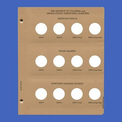 Dansco US Statehood Quarter DC & Territories w/ Proof Coin Album Page 2 #2-8145