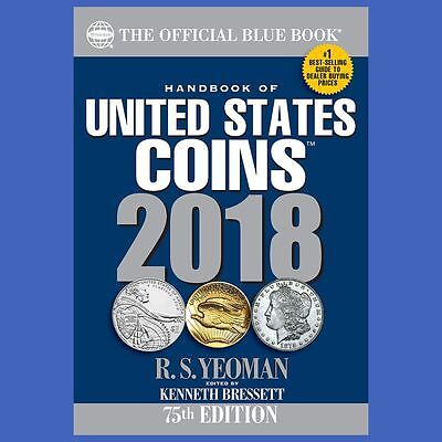 2018 Blue Book Of US Coins Softcover Soft Cover Blue
