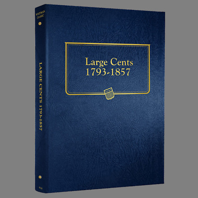 Whitman US Large Cent Coin Album 1793 - 1857 #9110