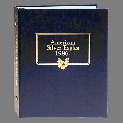 1986 to 2021 AMERICAN SILVER EAGLE DANSCO ALBUM #7181 WITH 4 PAGES NO COINS