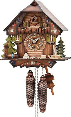 Hekas 876 8 Day Cuckoo Clock.. Authentic German/black Forest.. New!!