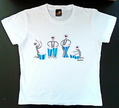 "SHAG Rare 2003 ""Four Drummers of the Apocalypse"" T-Shirt Junior Girls MED OS NEW"