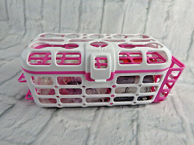 Munchkin Deluxe Dishwasher Basket for Nipples, Pacifiers, Caps w/ 2 Straw Racks