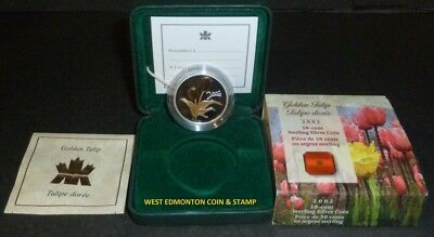 2002 50-Cent Silver Gold Plated Coin - Tulip