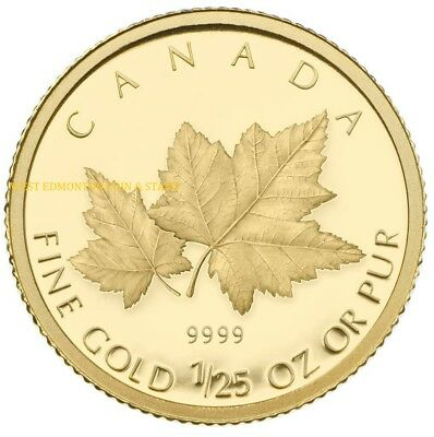 2009 1/25 Oz Gold Coin - Red Maple - Quantity Sold: 11,854