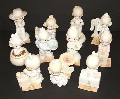 Lot of 11 Precious Moments Symbol of Membership Collector's Club Figurines