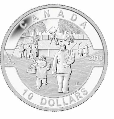 2013 $10 Fine Silver Coin O Canada Series - Hockey