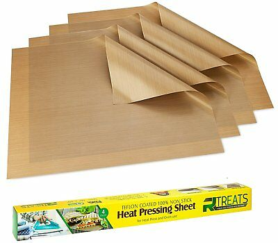 "Non-Stick Heat Press Teflon Sheet Pad Paper pressing sheet 16"" x 20"" Pack of 4"
