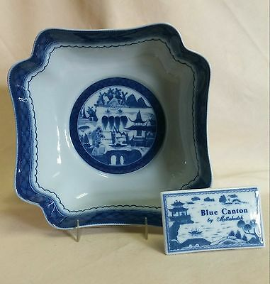 "Mottahedeh Blue Canton Square Bowl 9"" *NEW*"