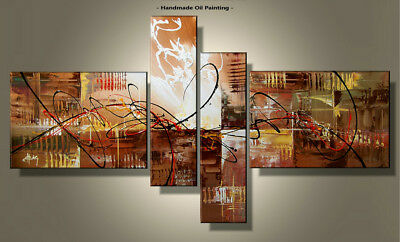 Framed Large Wall Art Handmade Canvas Modern Abstract Oil Painting Decor Abs041