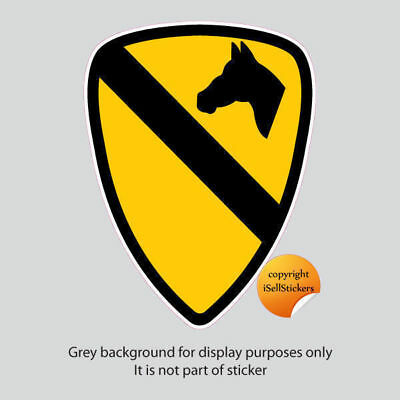 AR-2159 1st Cavalry Calvary Division Crest Army Bumper Sticker Car Window Decal