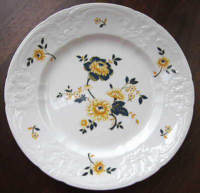 Coalport - Cressage - Yellow Floral Embossed White Dinner Plate(s) - England