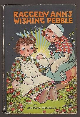 RARE VG 1930s Vintage OLD HC in a DJ Raggedy Ann Wishing Pebble Johnny Gruelle