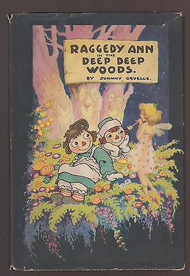 RARE VG 1930s Vintage OLD HC in a DJ Raggedy Ann Deep Woods Johnny Gruelle Nice