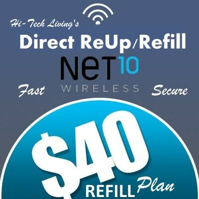 $40 NET10 PREPAID FASTEST ONLINE REFILL 25yr USA TRUSTED DEALER