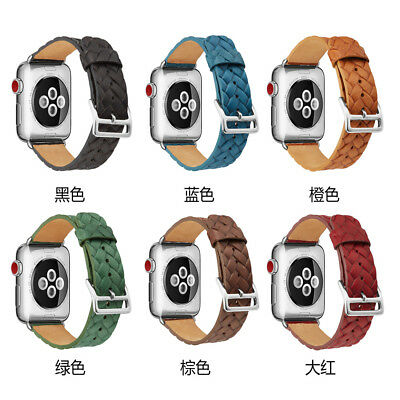 Xmas Replacement Band Strap PU Leather For  Watch 1/2/3 Series 42/38mm