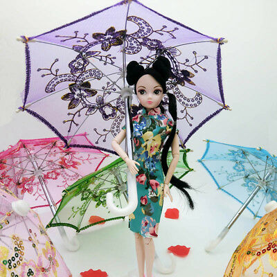 Doll Accessories Handmade Umbrella For American Girl Doll Decoration Kids Toy