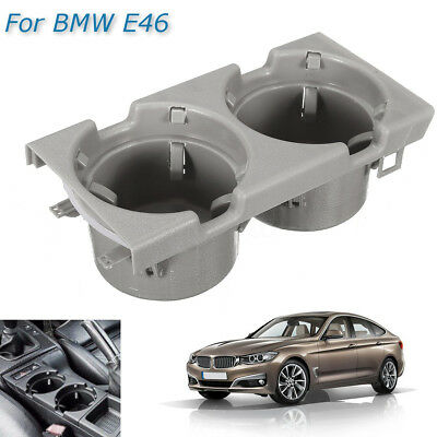 Front Center Console Drink Cup Holder Grey For BMW E46 3 Series 51168217953
