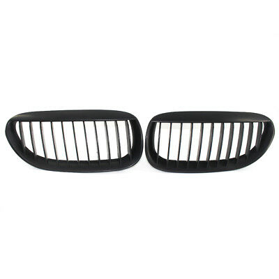 Pair Matte Black Kidney Grill Grille fit for BMW E63 E64 M6 630 645CI 650I ABS