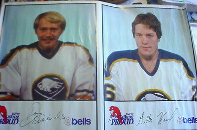 "1980-81 Bell's Market Buffalo Sabres Poster-""24x36""- Don Edwards/Gillies Howatt"