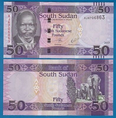 South Sudan 50 Pounds P New date 2017 UNC Low Shipping! Combine FREE!