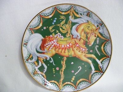 "Christmas Seal 8"" Carousal  Horse Plate Limited Ed 199? America Lung Assoc"