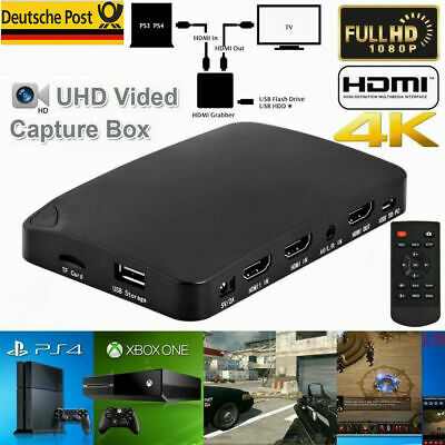 Live Stream Video Game Capture Box 1080P HDMI Recorder Xbox PS4 NINTENDO SWITCH