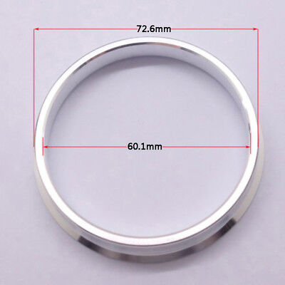 4pcs High Quality Aluminum Alloy Wheel Spacer Hub Centric Rings 72.6OD to 60.1ID
