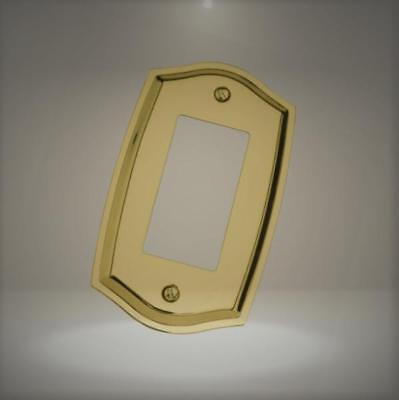 Baldwin 4785.030.CD Colonial Design Single GFCI Switch Plate, Polished Brass - L