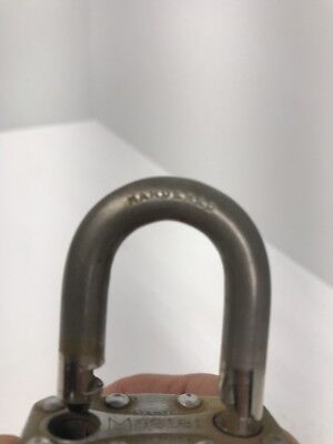 "Vintage COLE 50mm Padlock with one Key - 2"" Laminated Body - 1"" Shackle"
