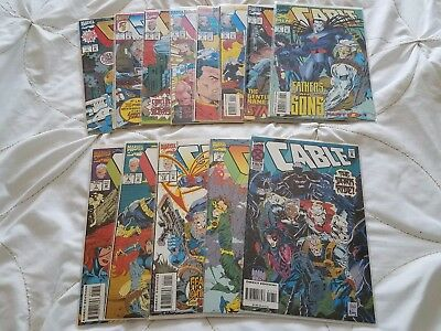 Lot of 13 Marvel Comics CABLE Modern Age 1993 1994