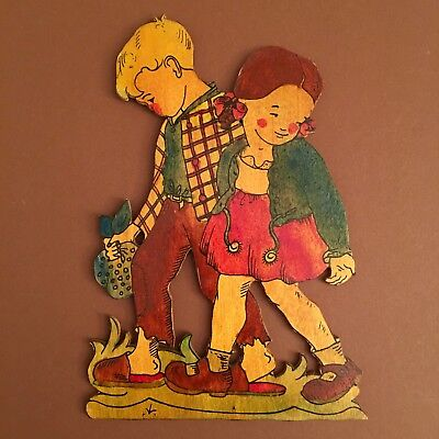 Hänsel und Gretel Graupner Graubele Deutsch Holz Dekoration #germanwallfigures